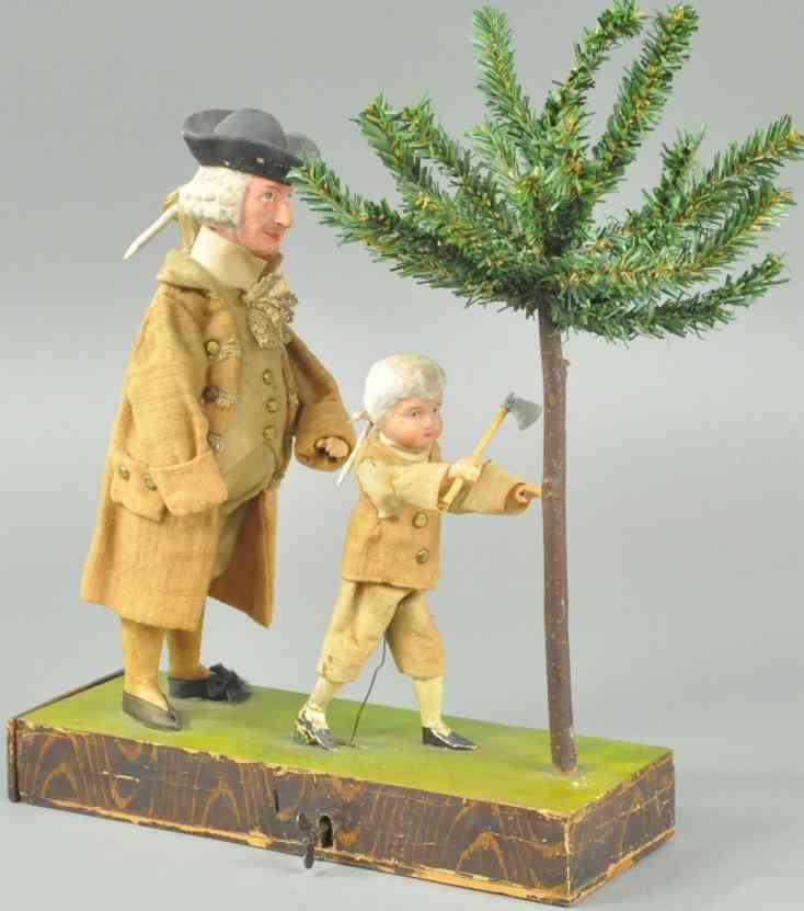 schaufensterautomat george washington composition holz