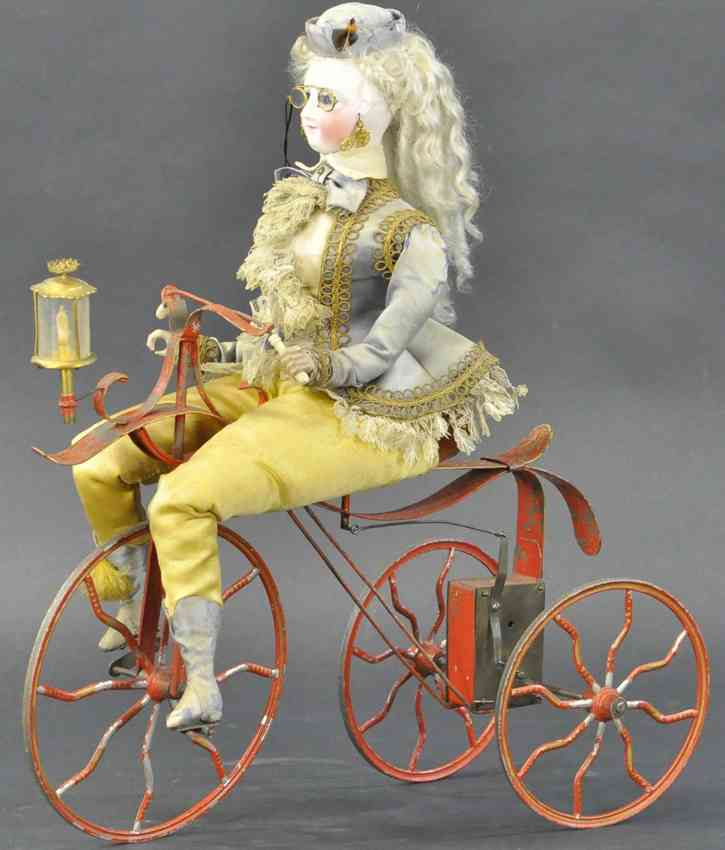 vichy automaton lady woman on tricycle