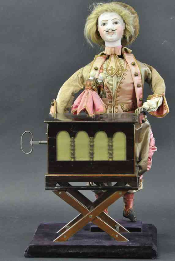 vichy automaton organ griner with dancing doll bisque coupe