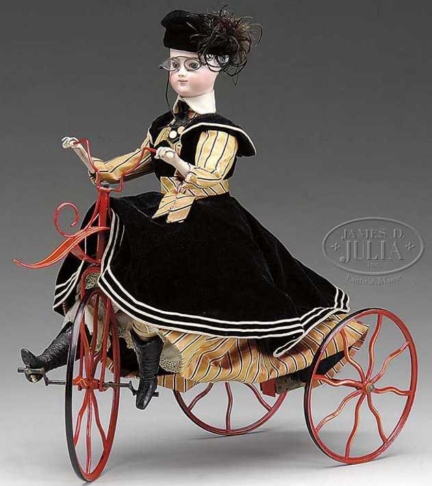 Vichy Automat französische Fahrradfahrerin