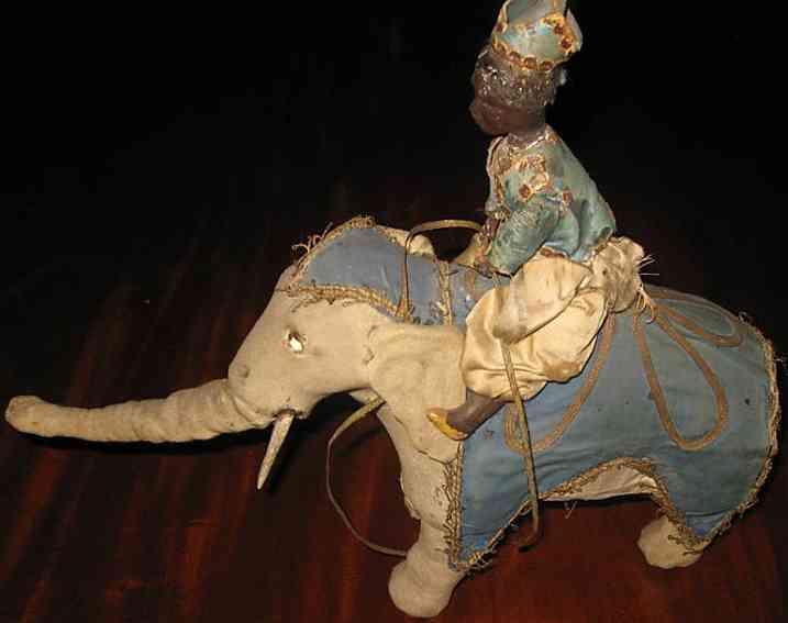vichy automat elefant  reiter der sich beugenden knien bewegt