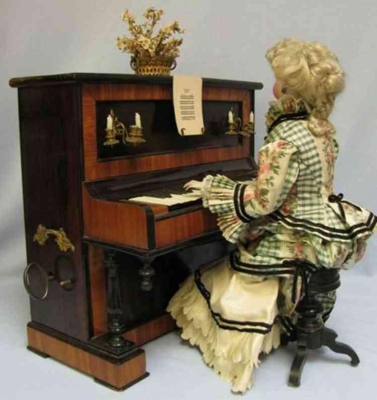 Vichy Musikautomat Frau am Piano