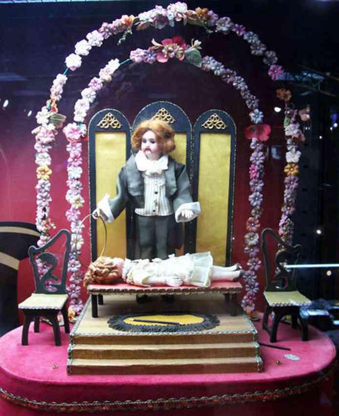 Zendka Automaten Schwebende Dame als Automat mit Zauberer