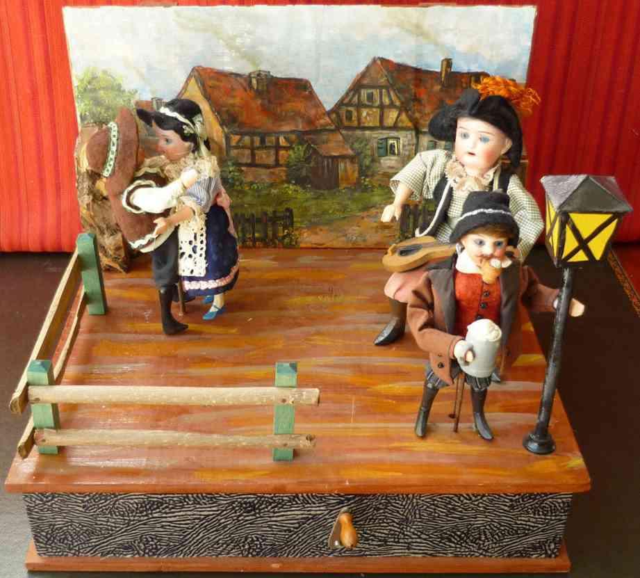 zinner & sohn bauerntanz automat musikbox mit uhrwerk