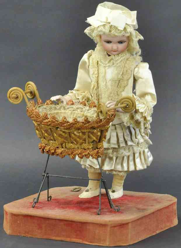 rouillet & decamps automaton mother rocking the baby nurse
