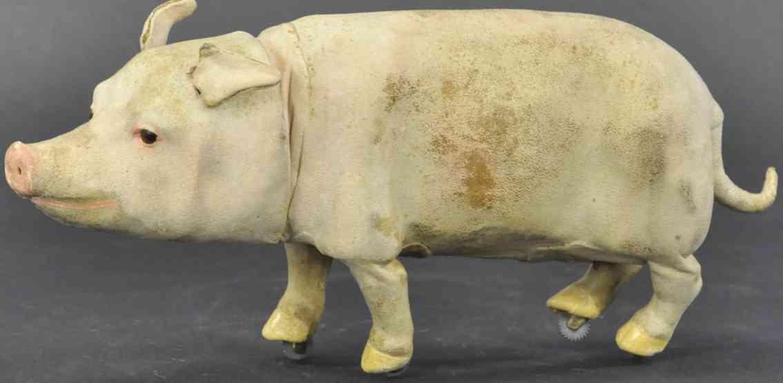 rouillet & decamps automaton walking pig clockwork