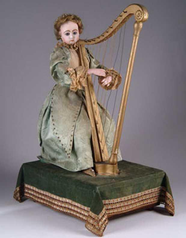 Rouillet & Decamps Harfenspieler als Automat