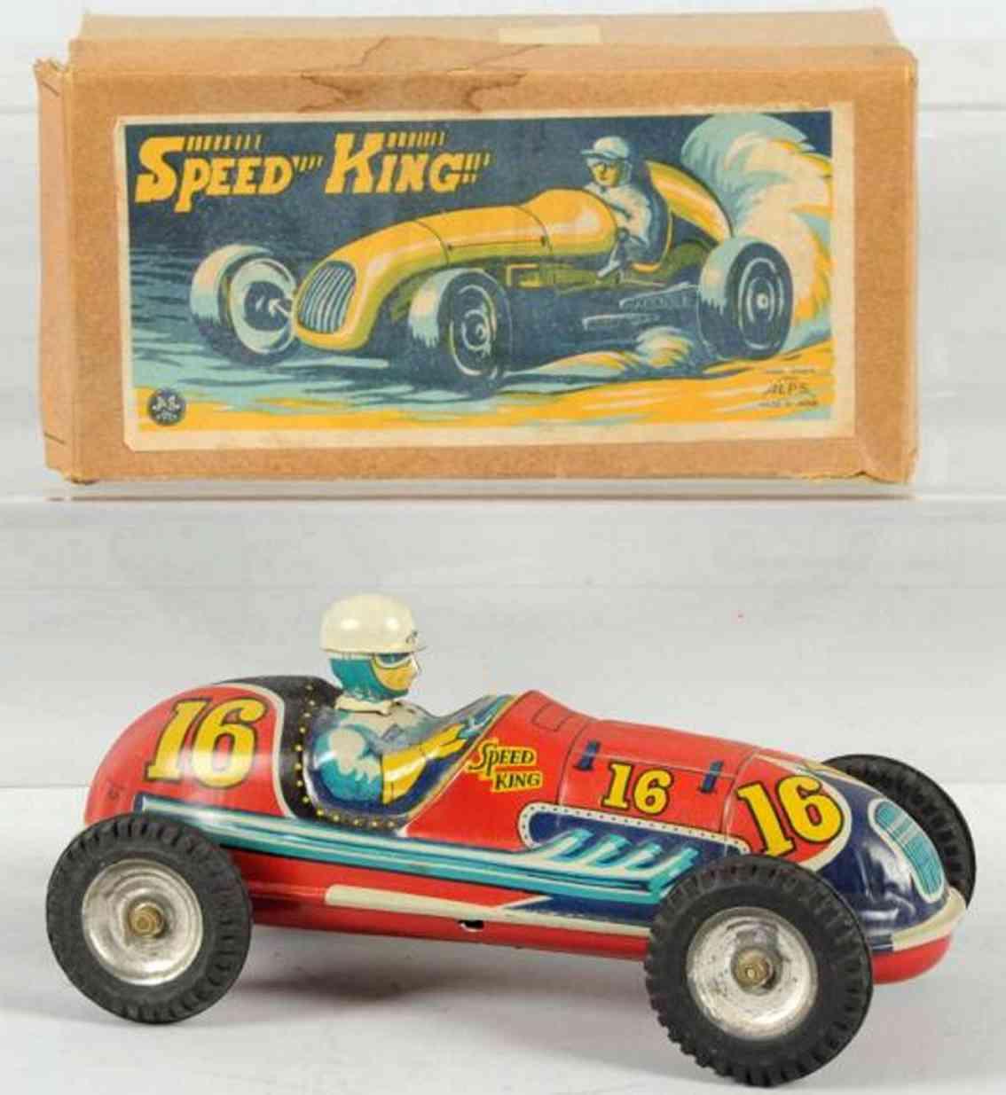 alps 16 blech spielzeug rennauto rennwagen speed king
