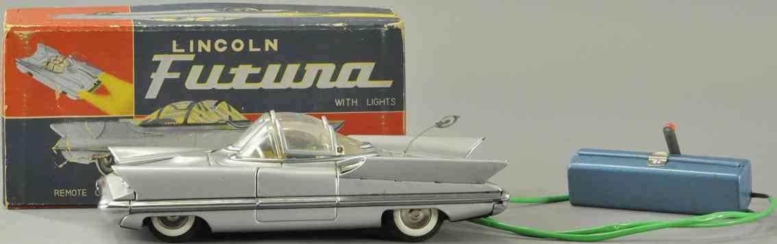 alps blech auto futuristischer lincoln batteriebetrieben silbern