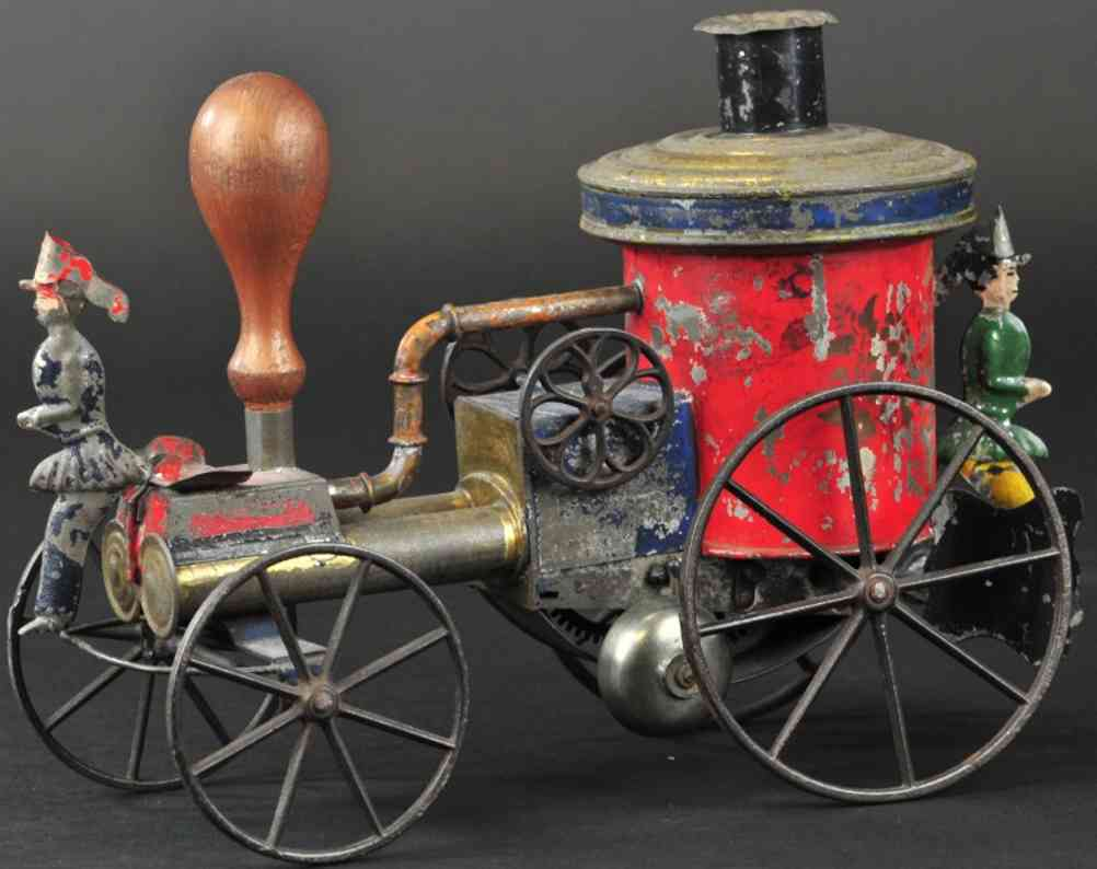 bergmann althof tin toy fire engine transitional steam fire pumper
