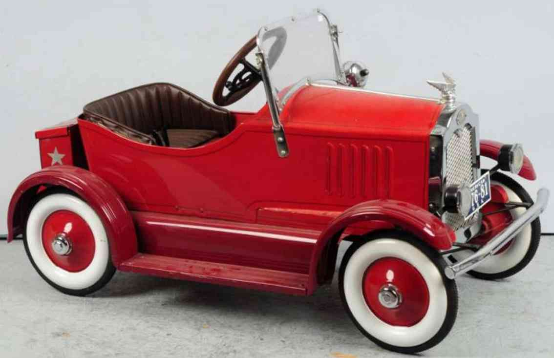 american national co pressed steel toy deluxe pedal car