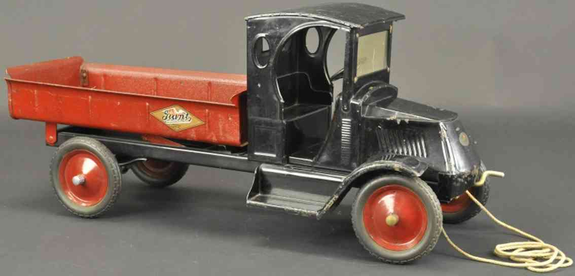 american national costahlblech spielzeug mack kipplastwagen rot schwarz