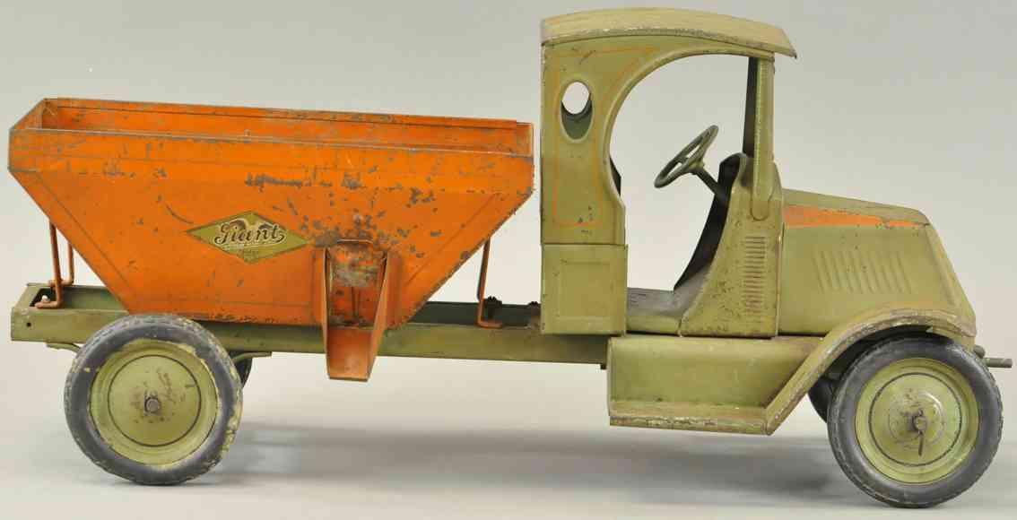 american national co blech spielzeug giant kohlewagen oliv orange