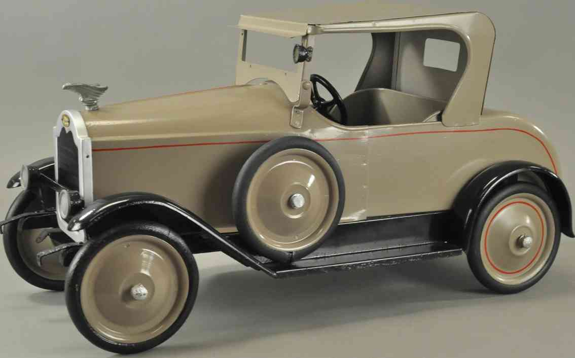 american national co tin toy car packard coupe luxury grey