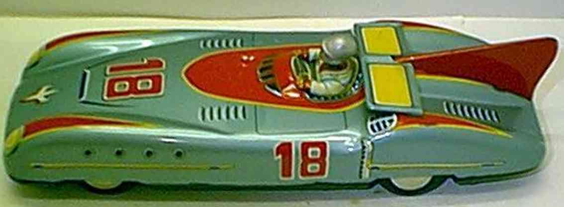 aoshin tin toy race car race car with friction drive driver move up and down manuall