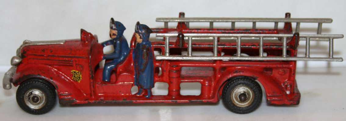 arcade 1700 spielzeug gusseisen feuerwehrleiterwagen