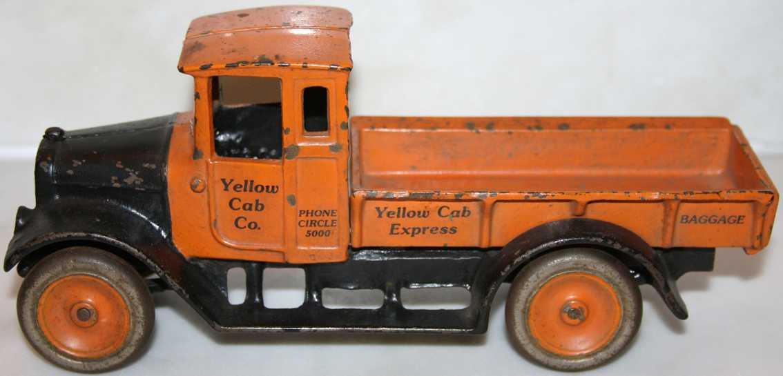 Arcade 212 Spielzeug Pritschenwagen aus Gusseisen in orange