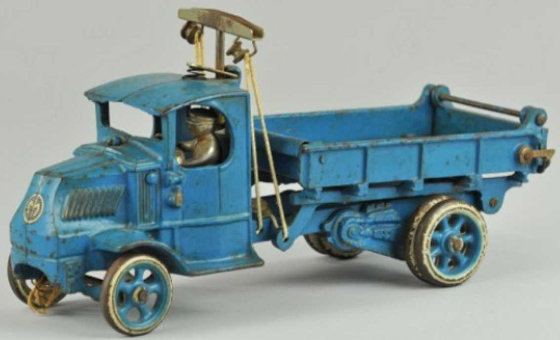 arcade 223 gusseisen mack pritschenwagen blau