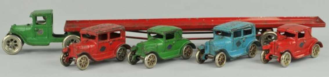 arcade 240 spielzeug gusseisen ford autotransporter