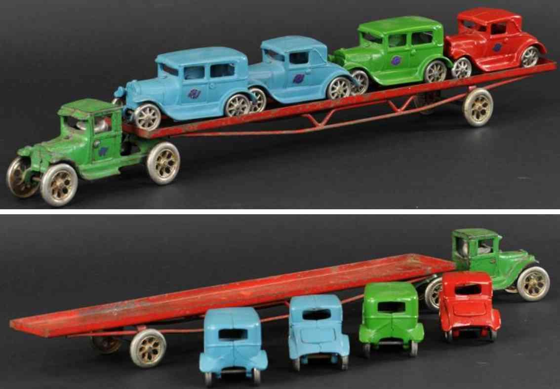 arcade 240 spielzeug gusseisen autotransporter modell a vier autos