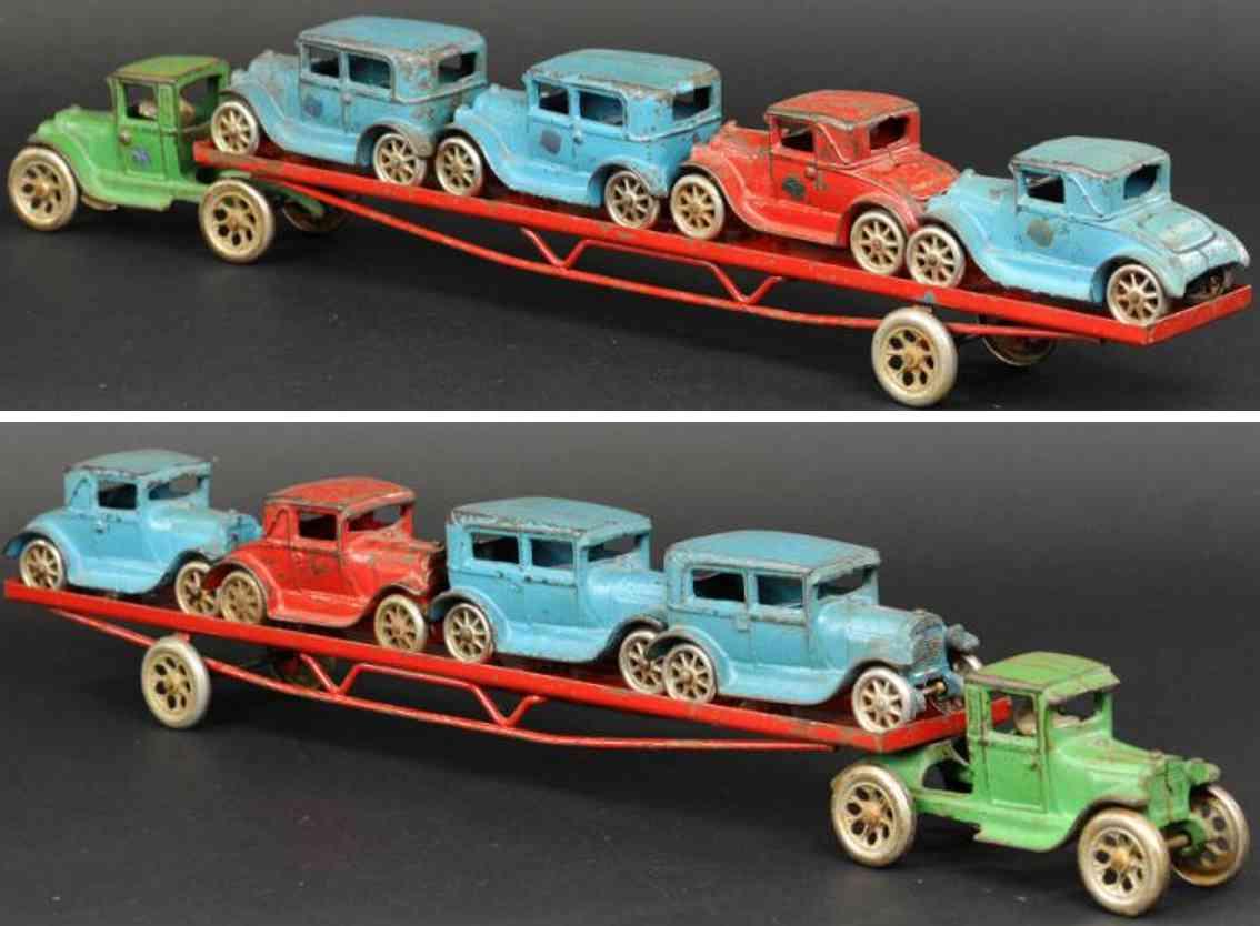 arcade 240 gusseisen autotransportwagen modell a vier autos
