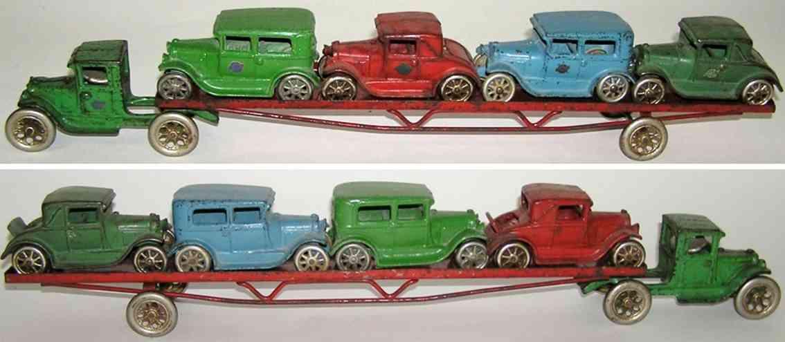 arcade 240 spielzeug gusseisen ford modell a autotransportwagen mit 4 autos
