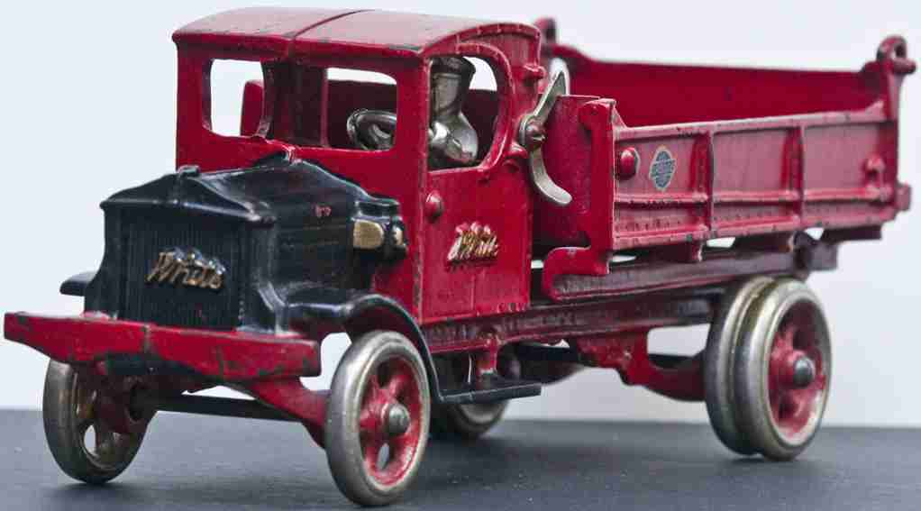 arcade 249 gusseisen kipplastwagen rot