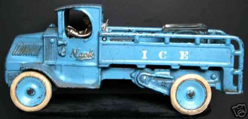 arcade 257 spielzeug gusseisen eis-lastwagen blau