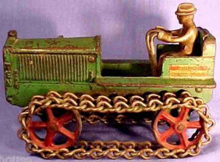 arcade 269 spielzeug gusseisen raupentraktor gruen