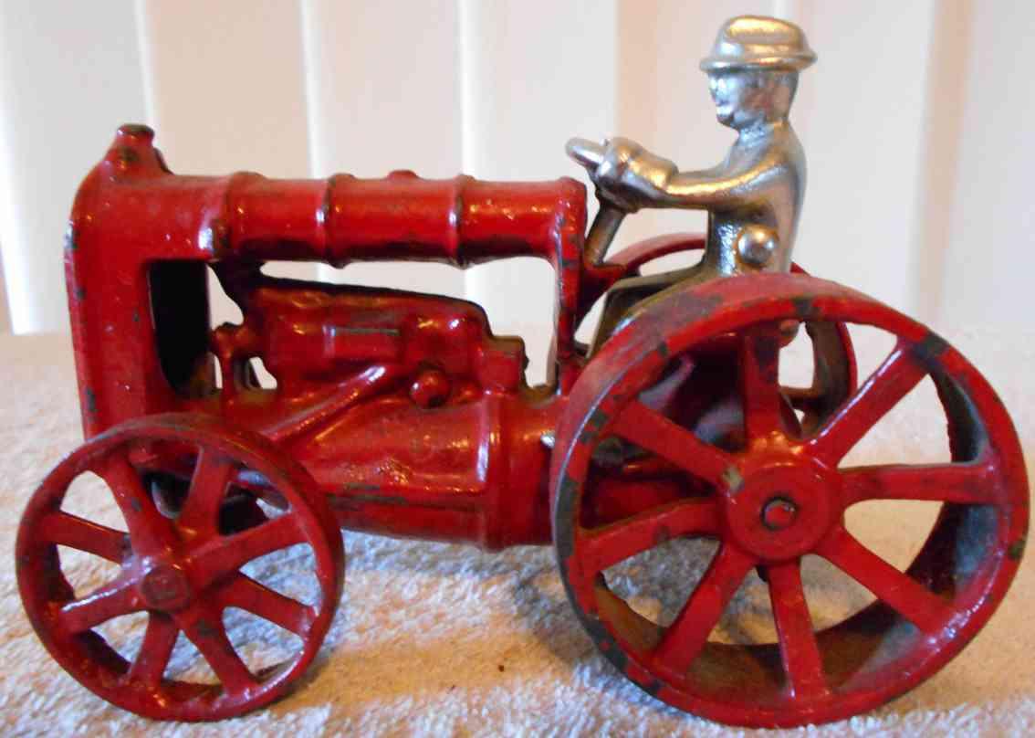 arcade 275-1 spielzeug gusseisen fordson traktor  in rot