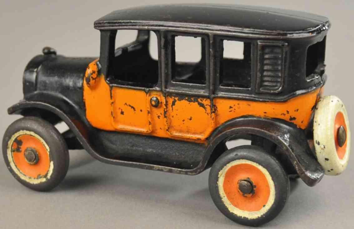 arcade 3 spielzeug gusseisen auto taxi schwarz orange