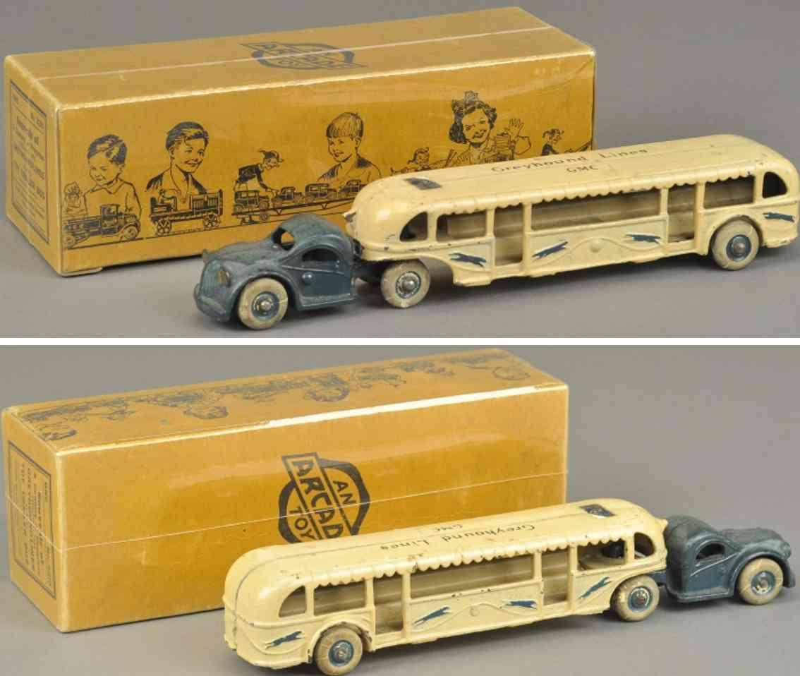 arcade 3210 spielzeug gusseisen greyhound bus