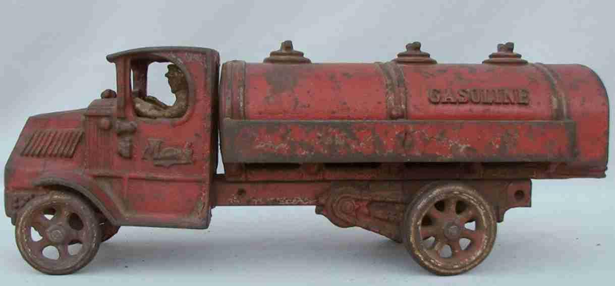 arcade 33 spielzeug gusseisen mack tanklastwagen rot