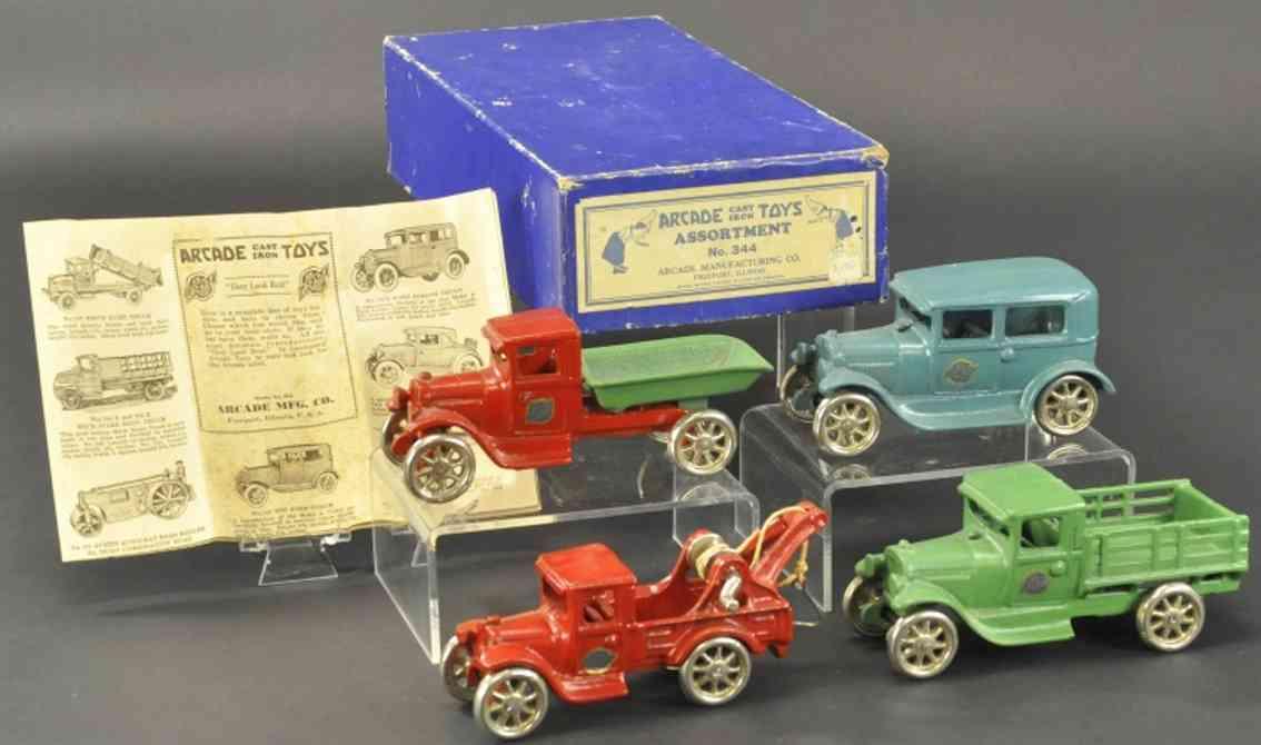 arcade 344 spielzeug gusseisen lastwagen auto set coupe abschleppwagen