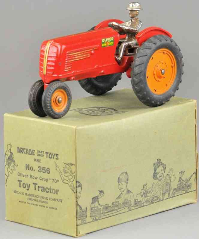 e 356 spielzeug gusseisen oliver traktor rot