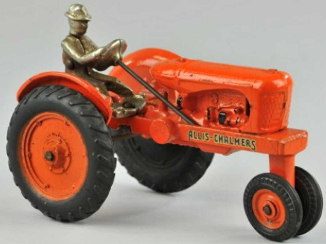 arcade 3740 spielzeug gusseisen traktor orange