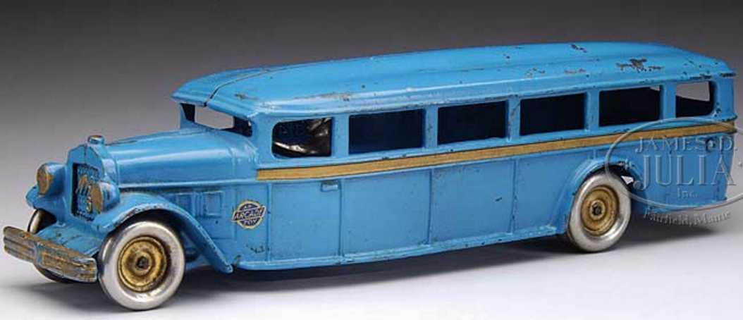 Arcade Bus aus Gusseisen in blau