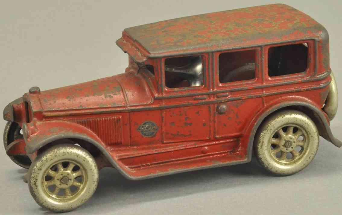 arcade spielzeug gusseisen buick auto rot fahrer