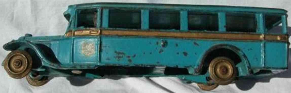arcade gusseisen reisebus blau