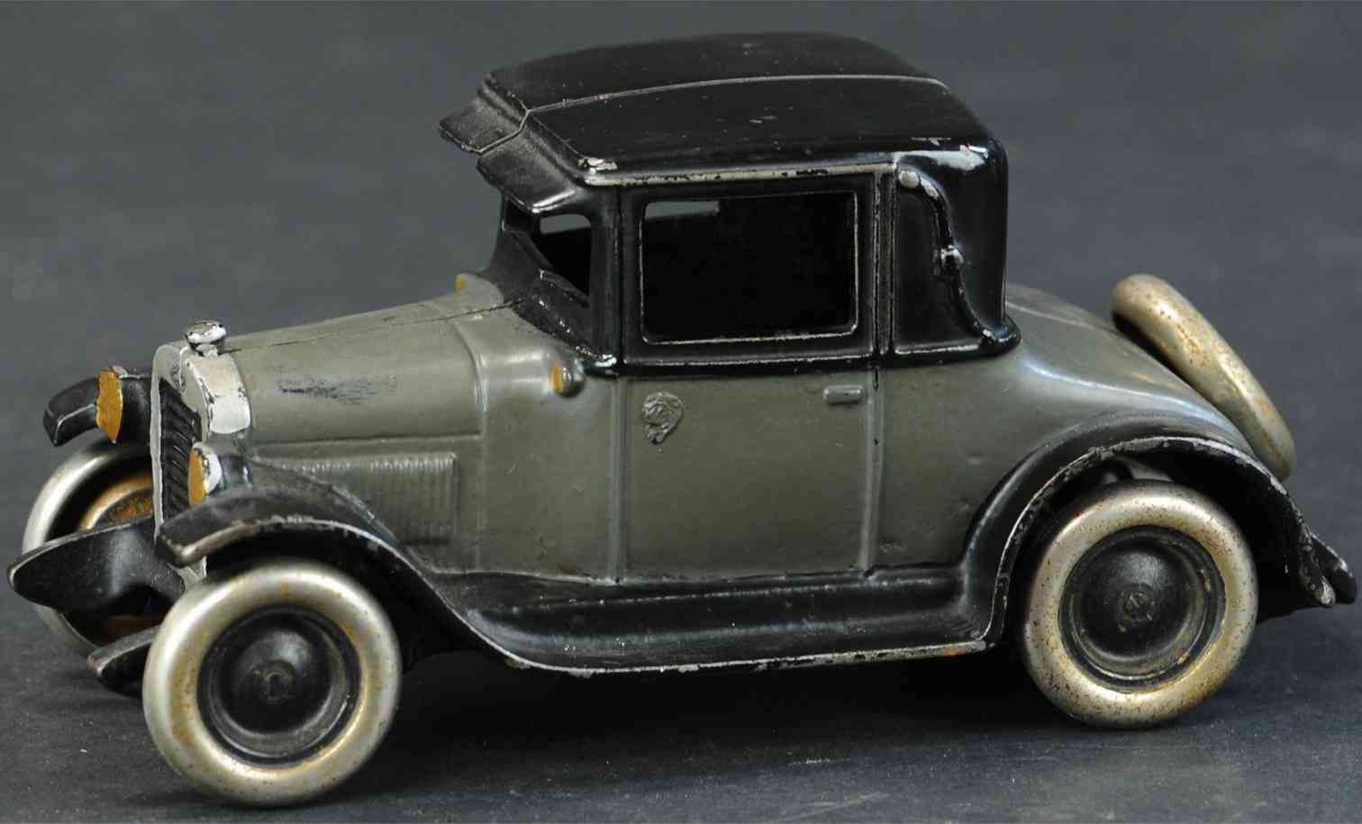 arcade cast iron toy car improved chevrolet coupe gray