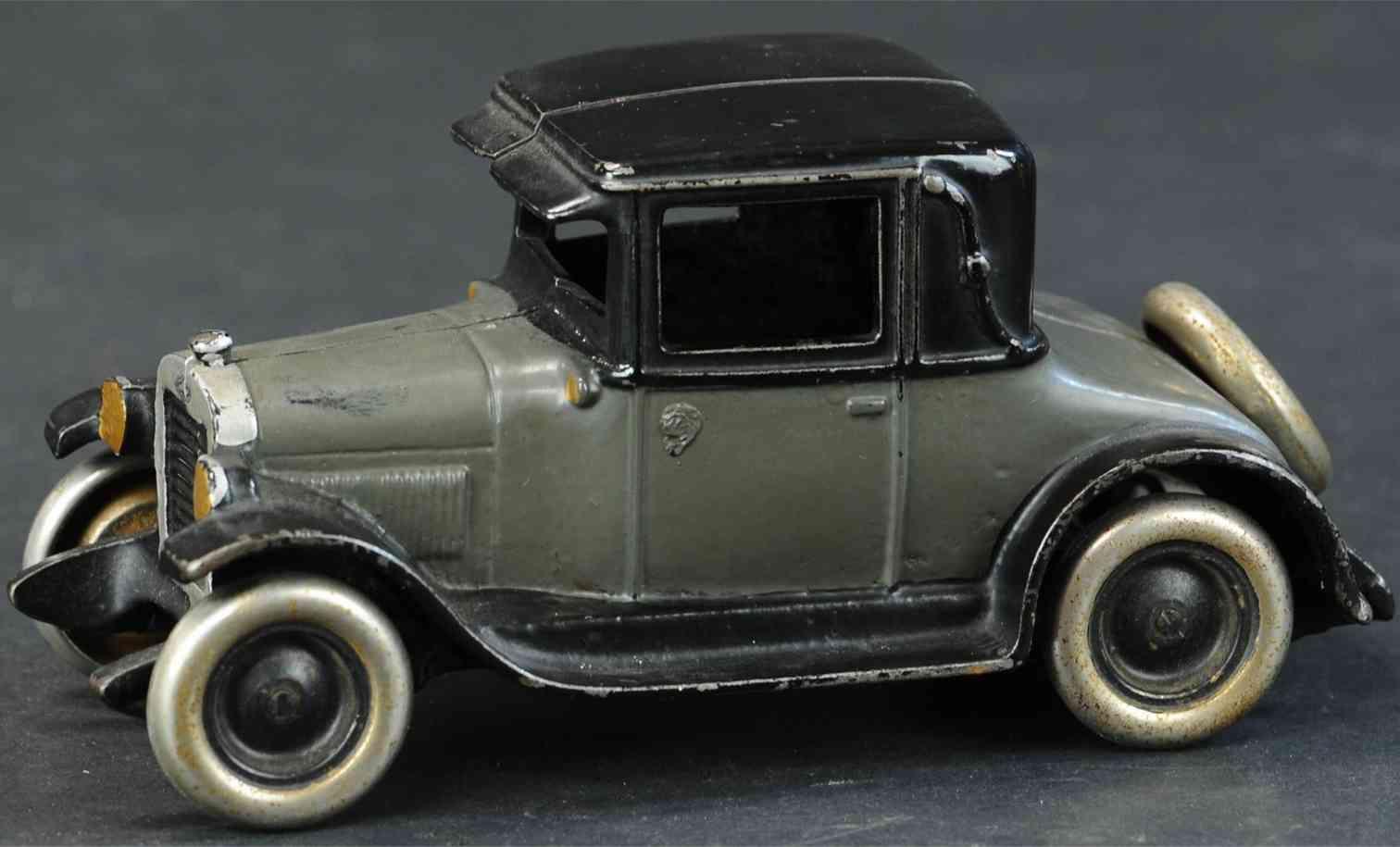 arcade spielzeug gusseisen auto chevrolet coupe grau