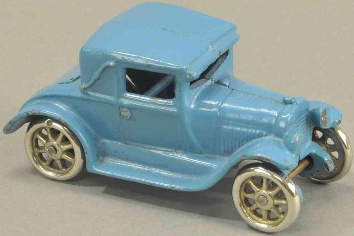 arcade spielzeug gusseisen auto coupe blau notsitz