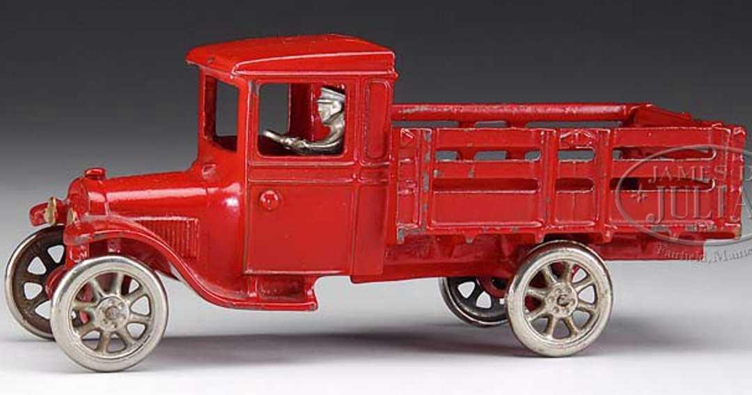 arcade gusseisen ford lieferwagen rungen rot