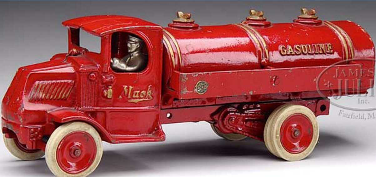 arcade spielzeug gusseisen mack tankfahrzeug rot