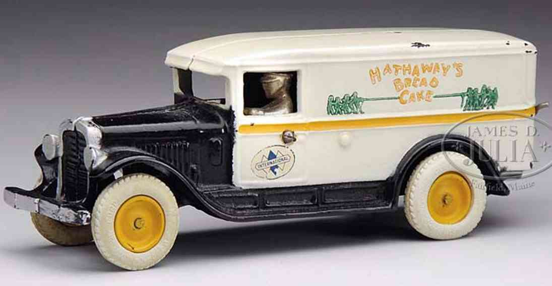arcade spielzeug gusseisen hathaway brot- kuchenlastwagen