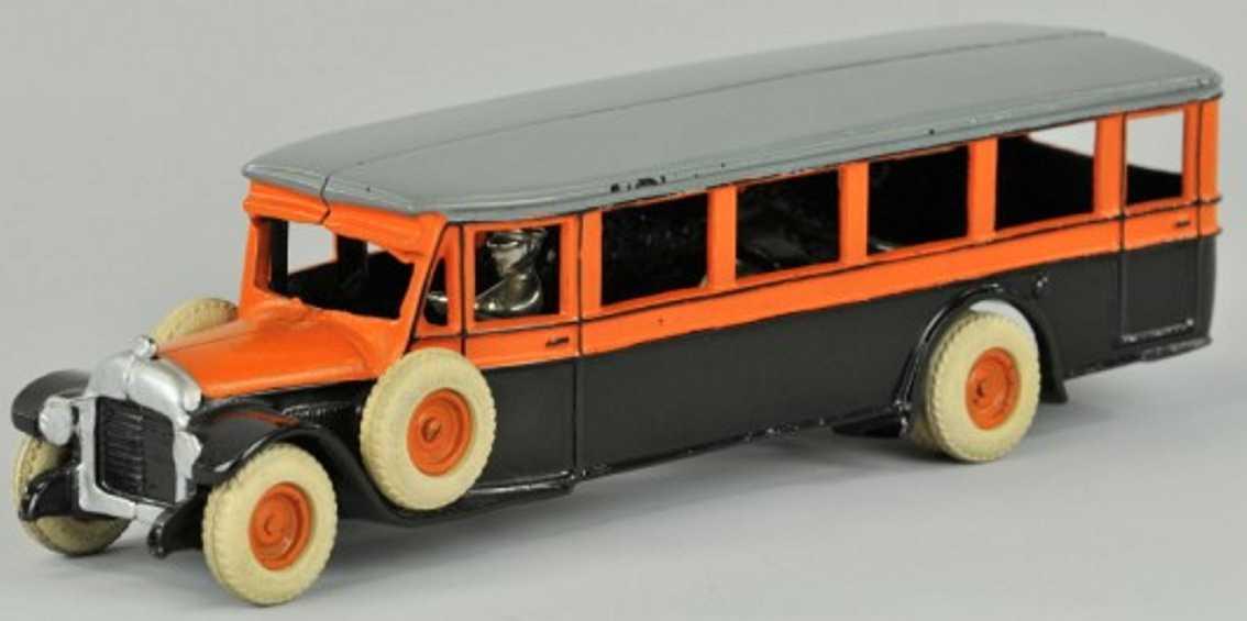 arcade gusseisen stadtbus orange schwarz