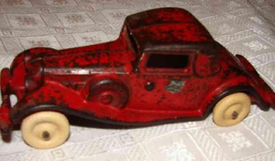 arcade spielzeug gusseisen auto reo coupe  rot