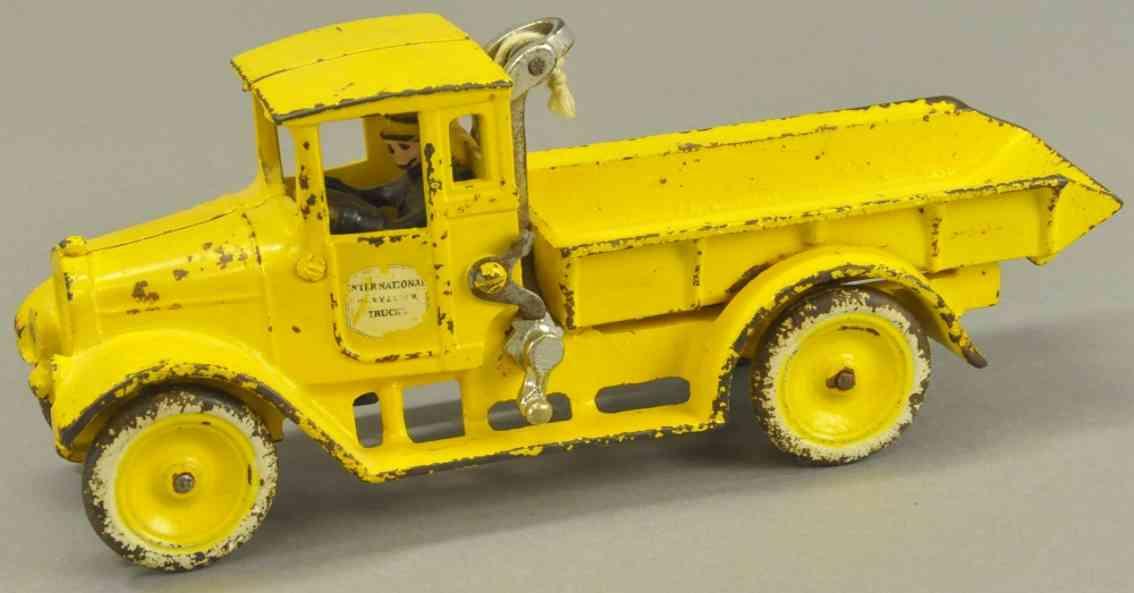 arcade spielzeug gusseisen lastwagen gelb