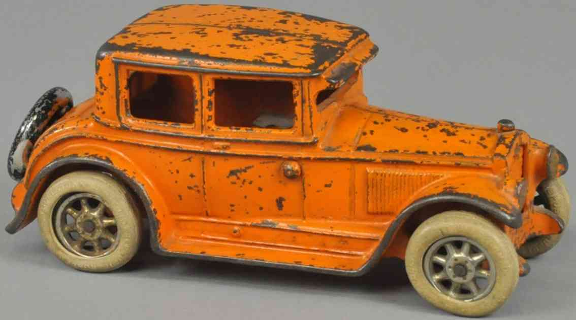 arcade spielzeug gusseisen auto buick coupe orange