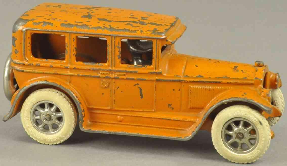 arcade spielzeug gusseisen auto viertueriger buick orange
